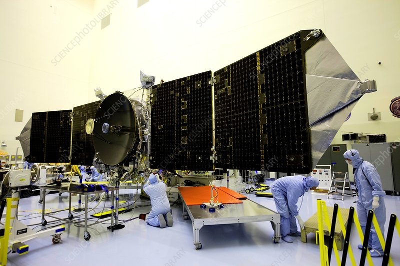 MAVEN spacecraft solar array testing