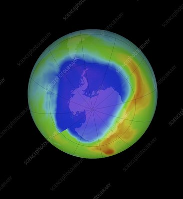 Antarctic ozone hole, 2013