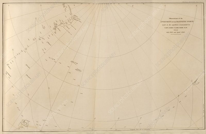 Antarctic magnetism observations, 1840s