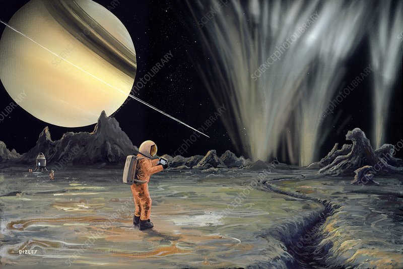 Exploring Enceladus, artwork