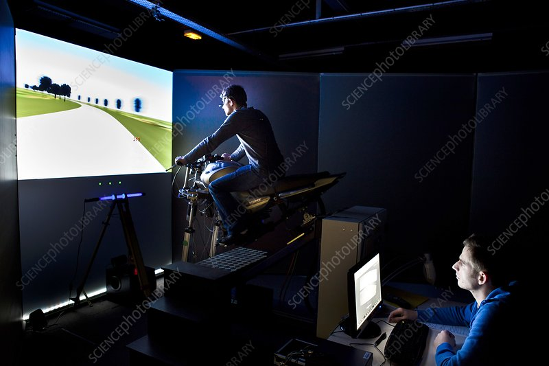 Road safety motorbike simulation