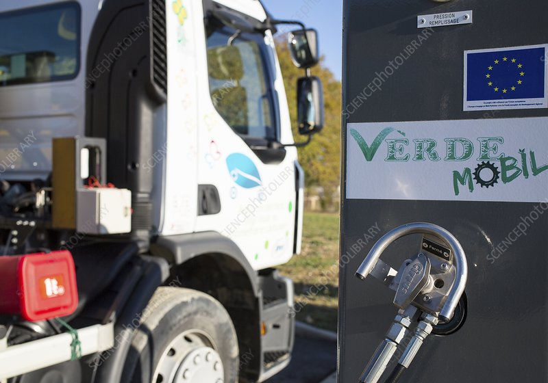 Biogas-powered truck