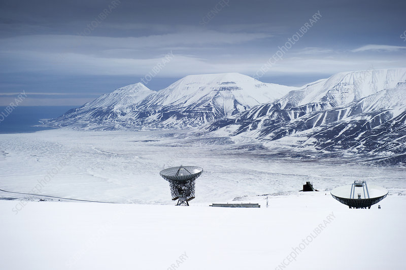 Radar dishes, EISCAT, Svalbard, Norway