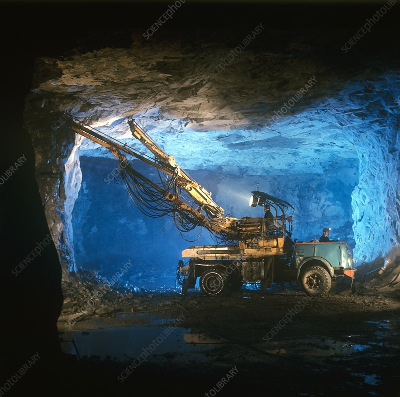 Copper ore mine