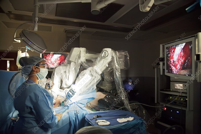 Laparoscopic robotic cancer surgery