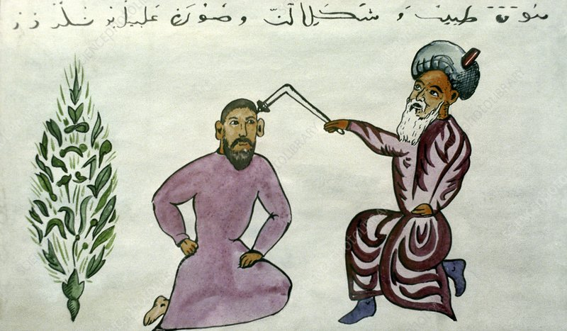 11th century physician, artwork