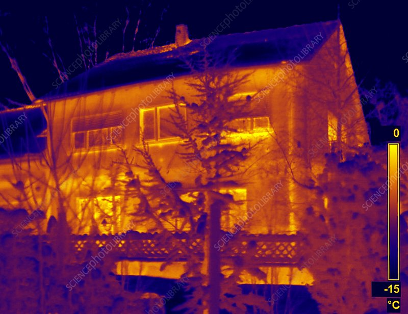 1950s house, thermogram