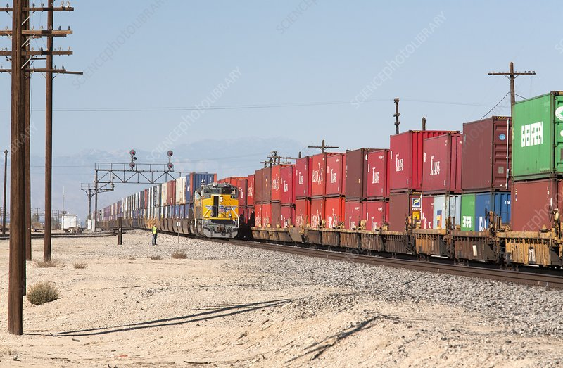 Cargo container trains
