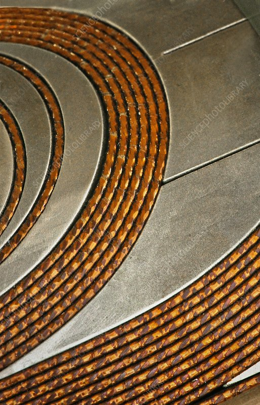 CERN Magnet coil windings