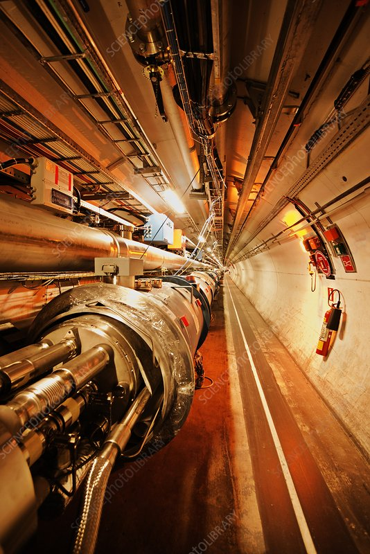Large Hadron Collider tunnel