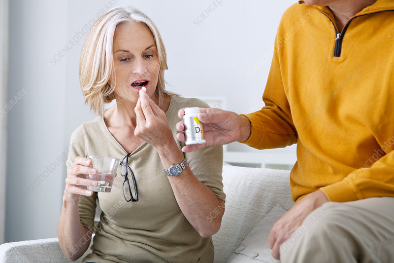 Senior Taking Medication