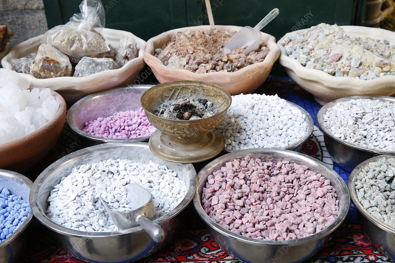 Frankincense on a market