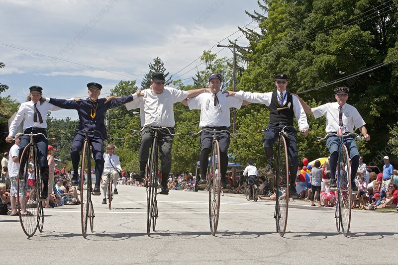 Antique bicycles, summer parade