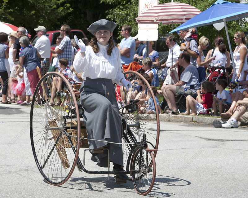 Antique tricycle, summer parade