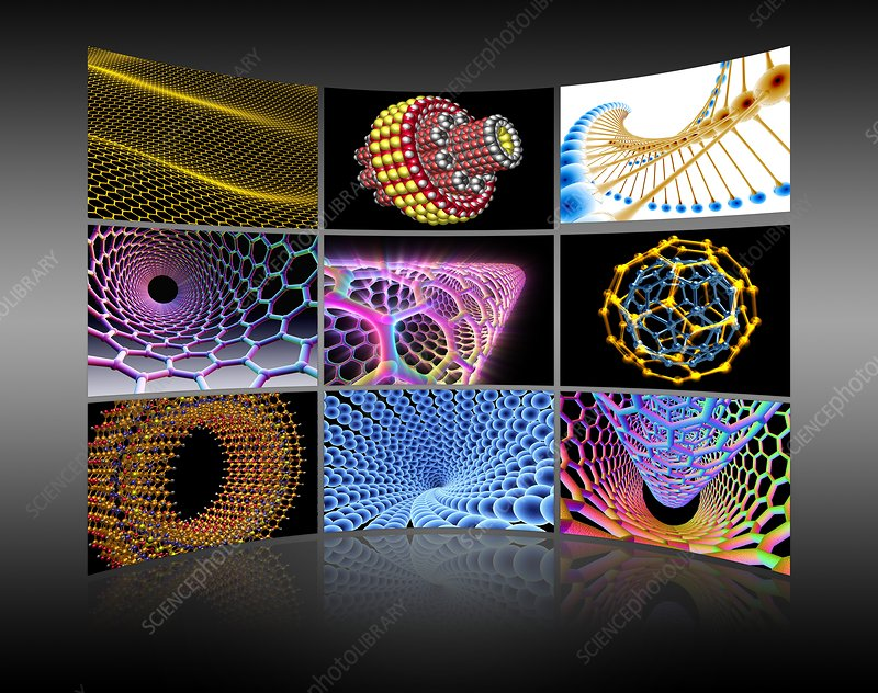 Nanotechnology display wall, artwork