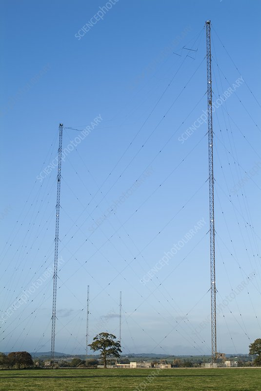 Transmission masts at Droitwich, UK