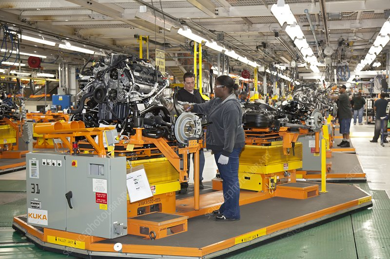 Jeep Grand Cherokee assembly line