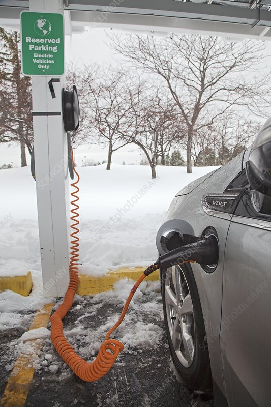 Chevrolet Volt electric car charging