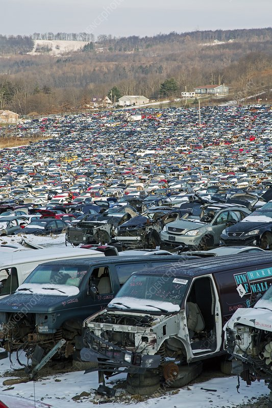 Stoystown Auto Wreckers >> Motor Vehicles At A Scrapyard Stock Image C021 0093 Science