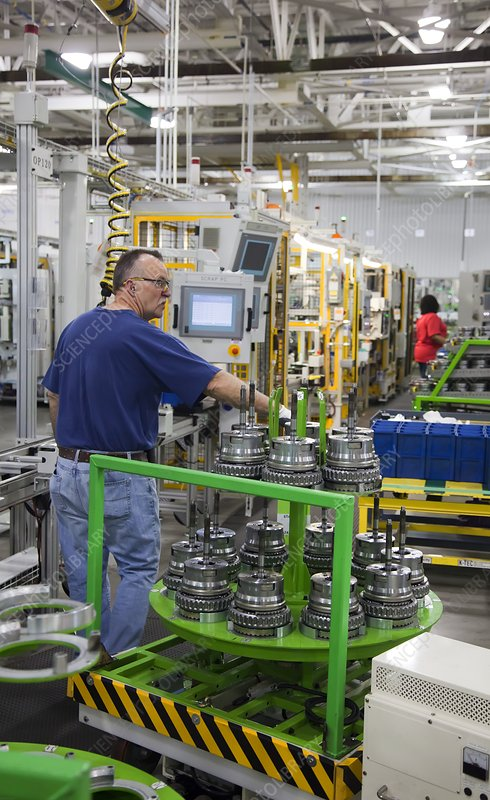 Car transmission assembly line