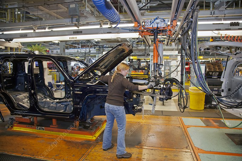 Car production assembly line