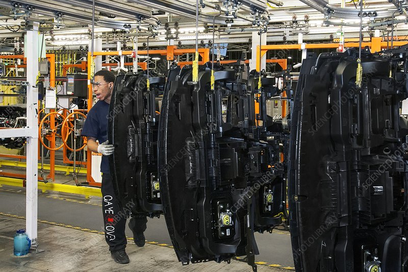 Car dashboard assembly line
