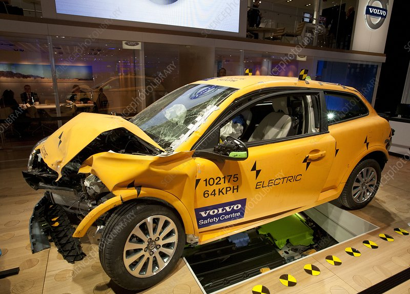 Crash-tested Volvo C30 electric car