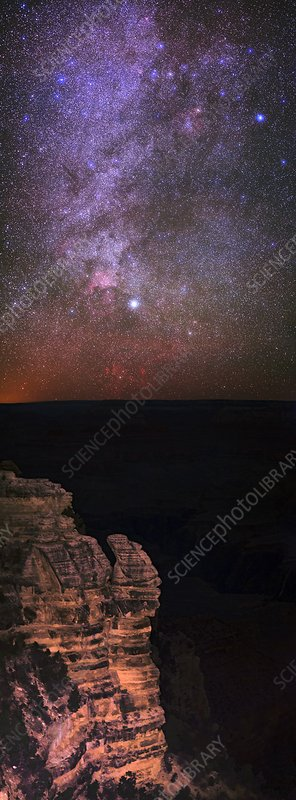 Night sky over the Grand Canyon, USA