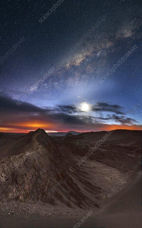 Twilight over Valle de la Luna, Chile