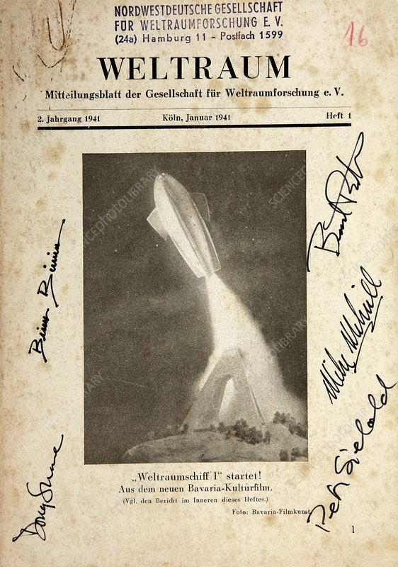 'Spaceship One Launched' poster, 1937