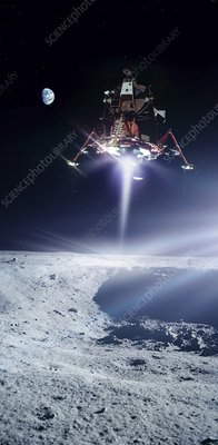 Apollo 11 moon landing, composite image