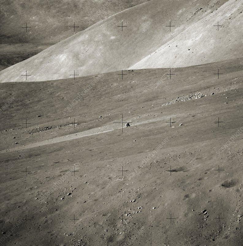 Apollo Challenger on the moon