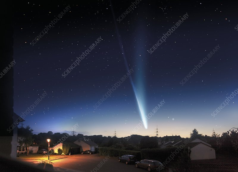 Comet ISON, composite image