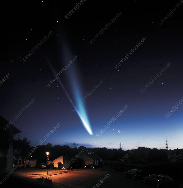 Comet ISON, composite image