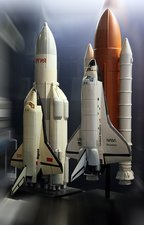 Space Shuttle and Buran spacecrafts