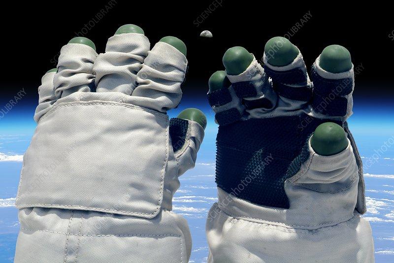 Orlan spacesuit gloves