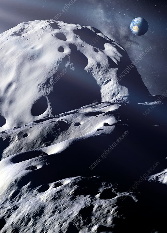 Double-asteroid Toutatis, artwork