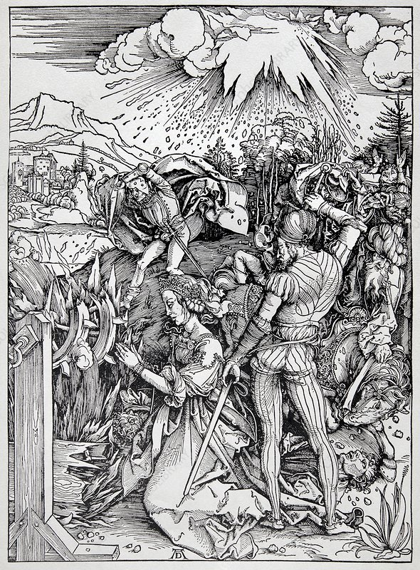 Falling of the Ensisheim meteorite, 1492