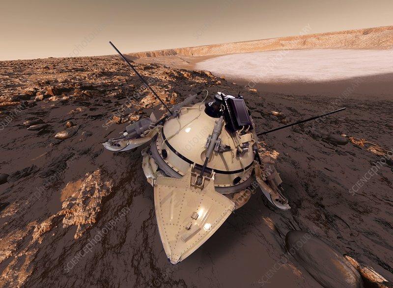 Mars 3 probe, composite artwork
