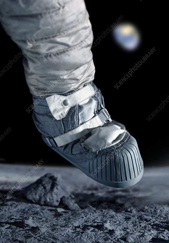 First step on the Moon, reconstruction