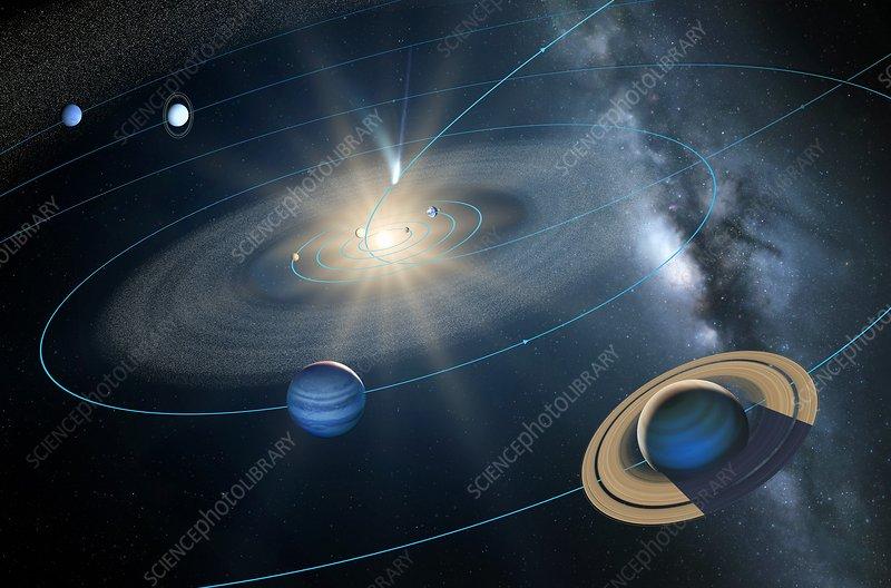 Comet ISON's orbit, artwork