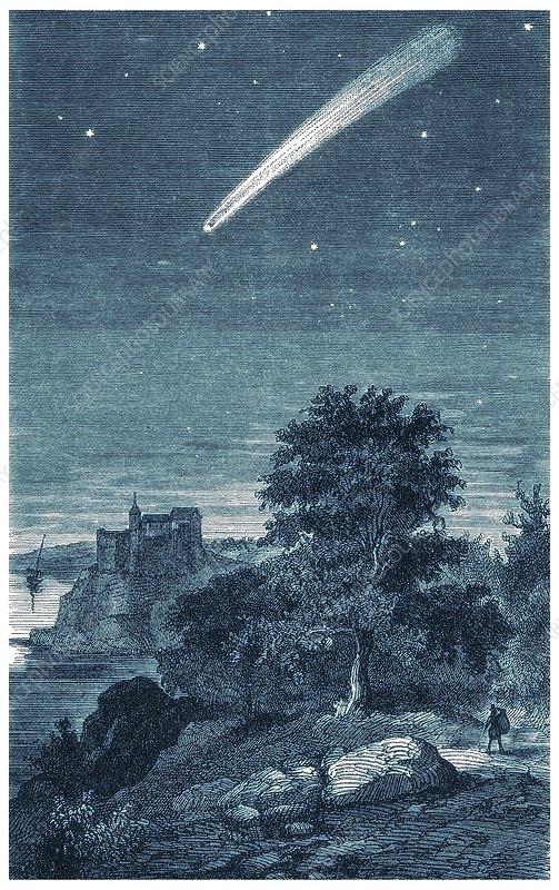Great comet of 1811, artwork
