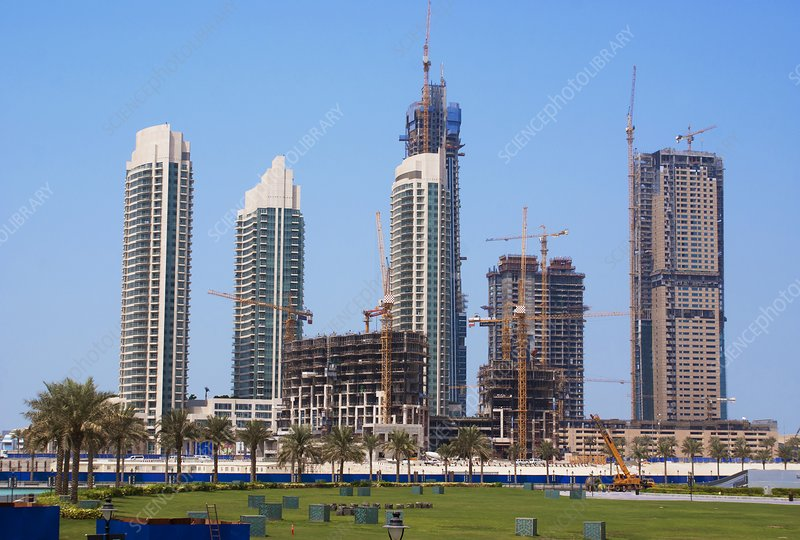 Tower block construction in Dubai
