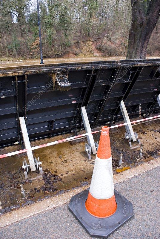 Flood barrier in Appleby