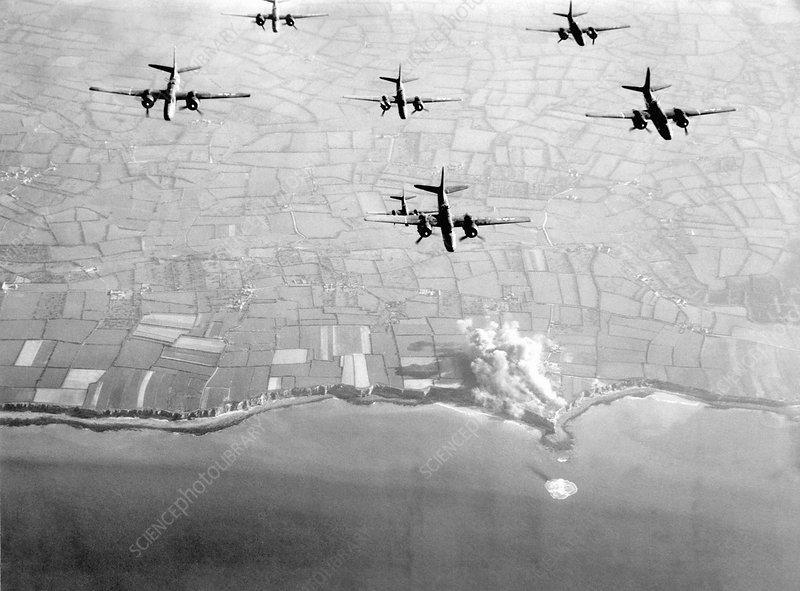 Pre-D-Day landings bombings, 1944