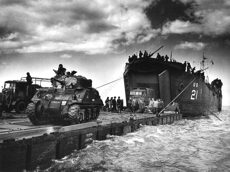 D-Day landings harbour, 1944