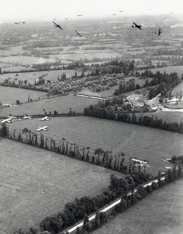 D-Day landings, aerial operations, 1944