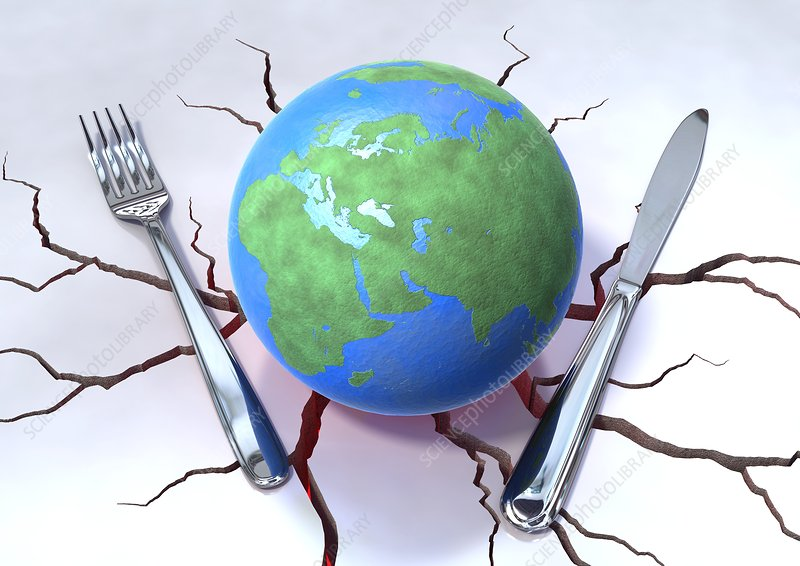 Global food production, conceptual image