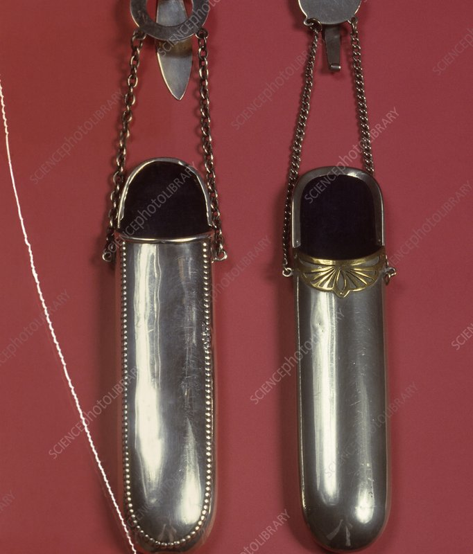 Two spectacle cases, circa 1890