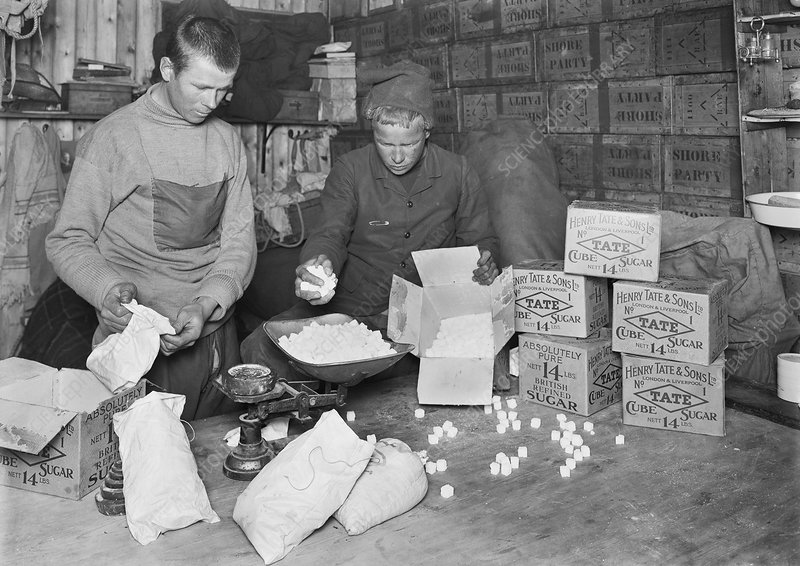 Packing Antarctic sledging rations, 1912